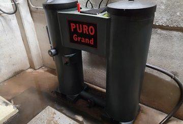 Tratamiento con ozono de aguas residuales en proceso de producción